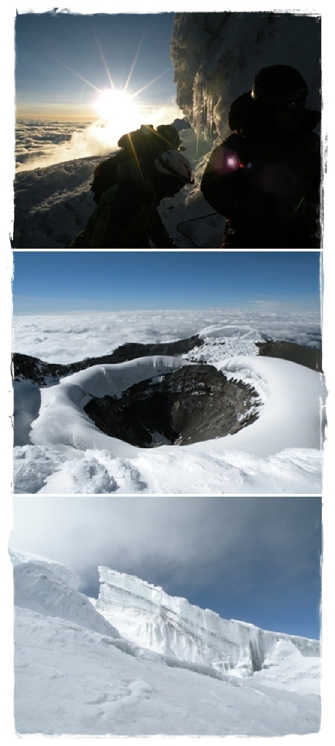 ascent to Cotopaxi (5.897 m / 19,347 ft) & crater