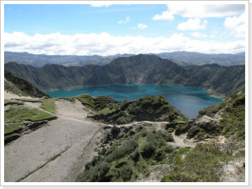 Quilotoa Krater See