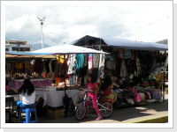 handicraft market in Otavalo